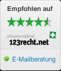Bewertungen auf 123recht.net